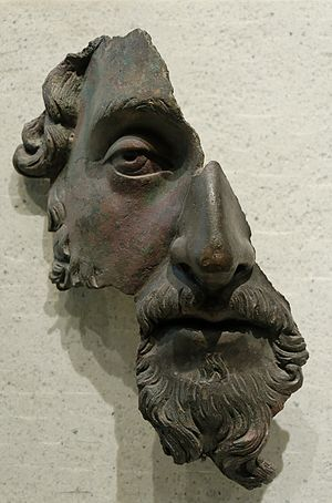 Marcus Aurelius, fragment of a bronze portrait...