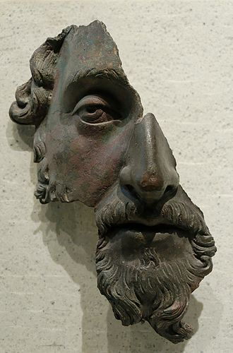 "Conscience - Marcus Aurelius bronze fragment, Louvre, Paris: ""To move from one unselfish action to another with God in mind. Only there, delight and stillness."""