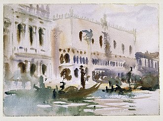 Gondola - From the Gondola by John Singer Sargent (Brooklyn Museum)