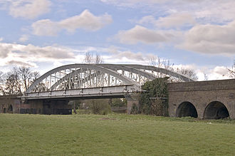Brunel's wrought-iron Windsor Railway Bridge: both a tied-arch and a through-arch Brunelwindsorbridge.jpg