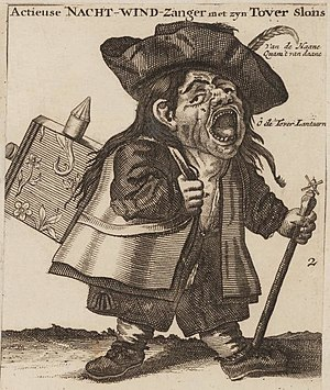 "Pump and dump - The ""night singer of shares"" sold stock on the streets during the South Sea Bubble. Amsterdam, 1720."