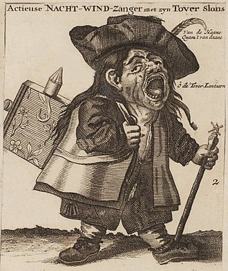 "Microcap stock fraud - The ""night singer of shares"" sold stock on the streets during the South Sea Bubble. Amsterdam, 1720."
