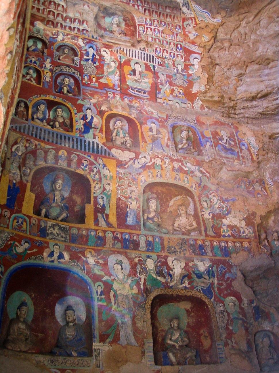 Buddhist paintings Yungang.jpg