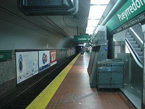 Pueyrredón (Line D Buenos Aires Underground) - Image: Buenos Aires Subte Pueyrredón D 1