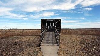 Buffalo Lake National Wildlife Refuge - Blind for wildlife viewing at Buffalo Lake NWR