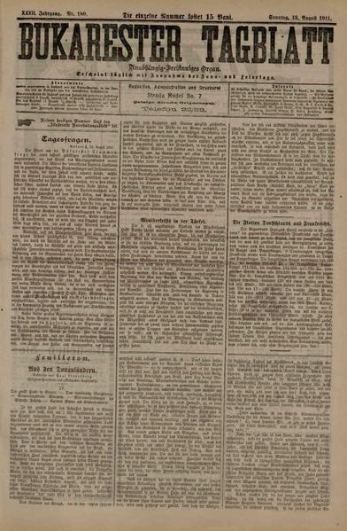 File:Bukarester Tagblatt 1911-08-13, nr. 180.pdf