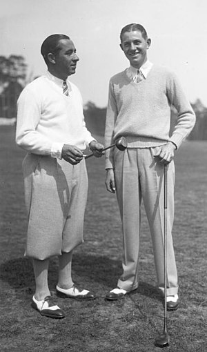 Walter Hagen - Hagen and Horton Smith in 1929