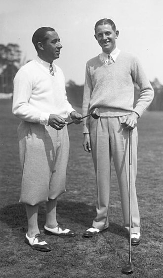 Horton Smith - Walter Hagen and Smith (right) in 1929
