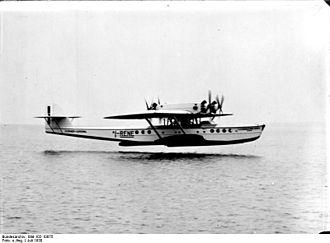 Dornier Do R - Image: Bundesarchiv Bild 102 10075, Flugboot Dornier Do R 4 Superwal