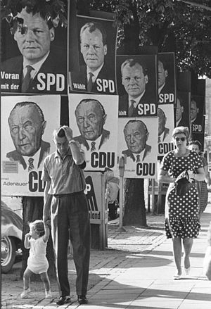 West German federal election, 1961 - Election posters