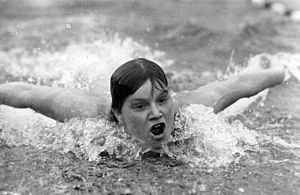 East Germany at the 1968 Summer Olympics - Helga Lindner, silver medallist in the women's 200m butterfly
