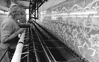 Plauen - Lace curtain factory, 1980