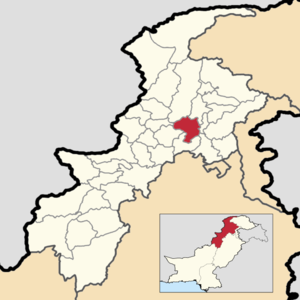 Location in the province of Khyber Pakhtunkhwa