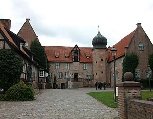 Bad Bederkesa - Bederkesa Castle, since 1381 stronghold of the City of Bremen's possessions within the Duchy of Bremen, in 1654 ceded to the latter.