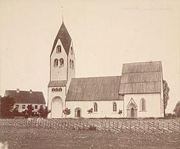 Burs kirke omkring 1890.