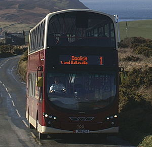 Bus Vannin - Wright Eclipse Gemini 2 bodied Volvo B9TL in February 2010