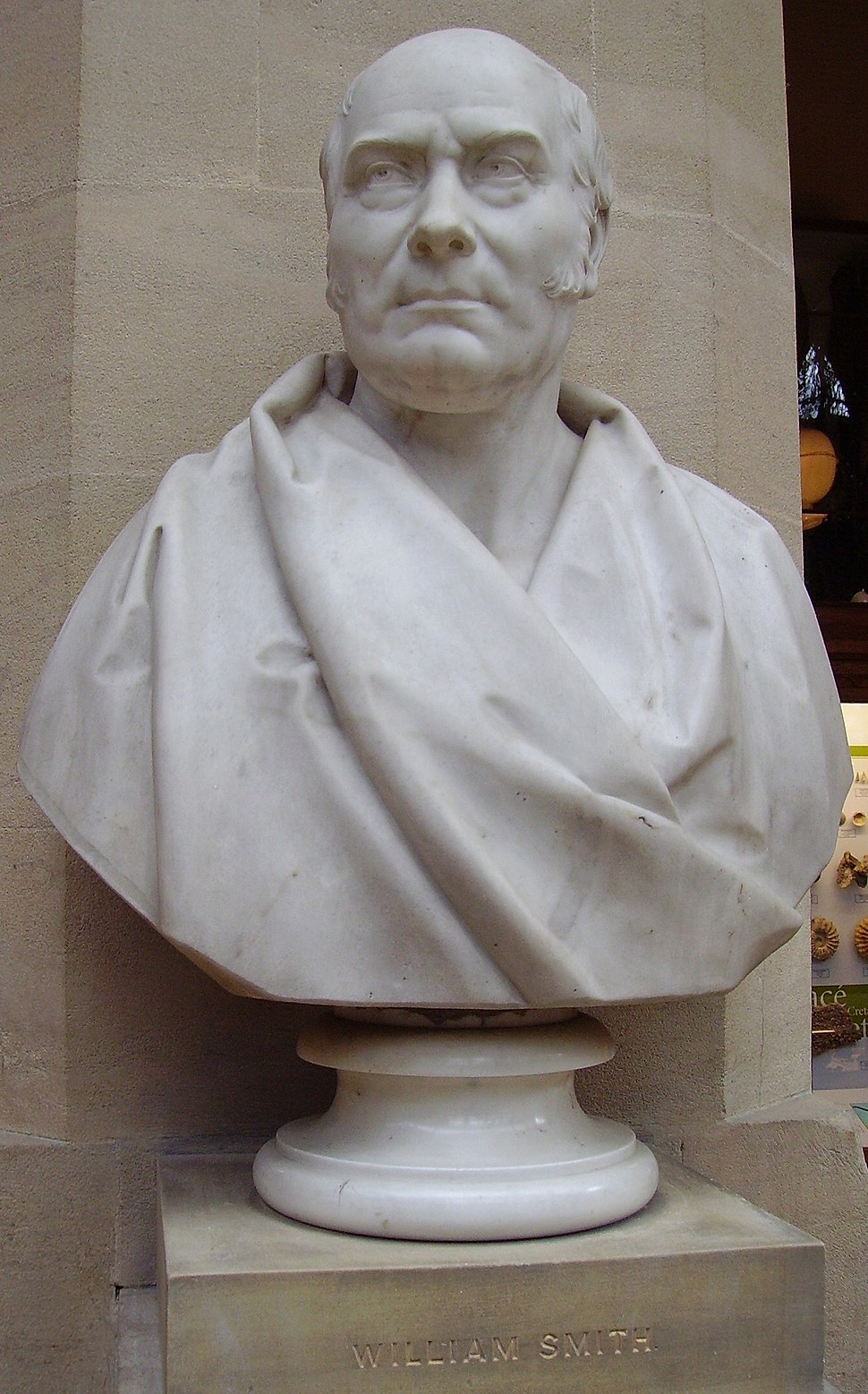 Bust of William Smith, Oxford University Museum of Natural History