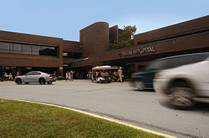 Naval Hospital Camp Lejeune - Naval Hospital Camp Lejeune has a three-pronged mission -operational readiness, patient and family-centered care, and professional development. (U.S. Navy photo illustration by Danielle Bolton/Released)