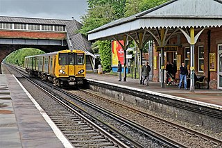 Bromborough railway station Railway station on the Chester & Ellesmere Port branches of the Wirral line in England
