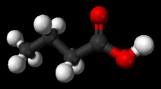 Butyric acid - Image: Butyric acid 3D balls