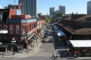 English: Byward Market in Ottawa, Canada - vie...