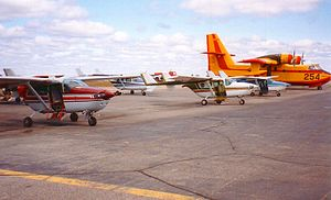 Cessna Skymaster - Part of the contract fleet of Cessna 337 Skymasters on firefighting detection duty with the Ontario Ministry of Natural Resources at Dryden, Ontario, 1996.