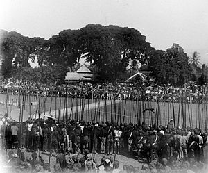 Rampokan - Image: COLLECTIE TROPENMUSEUM Een tijgergevecht Kediri T Mnr 10017893