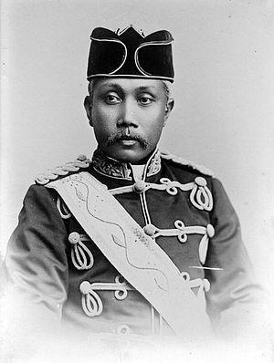 Medan - Portrait of Sultan Ma'mun Al Rasyid Perkasa Alam, 1900s.