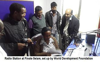Community radio - CRS at Finote Salem