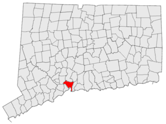 National Register of Historic Places listings in New Haven, Connecticut - Location of New Haven in Connecticut
