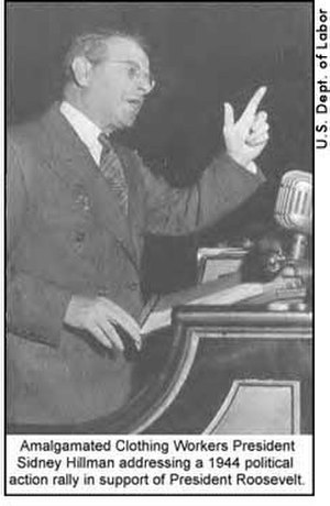 Sidney Hillman - Hillman addressing a 1944 political rally