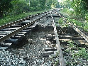 Cuyahoga Valley Scenic Railroad - Flood damage to CVSR tracks north of Bath Road.