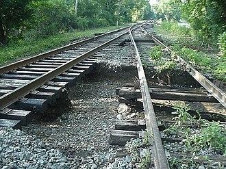 Cuyahoga Valley Scenic Railroad - Flood damage to CVSR tracks north of Bath Road.