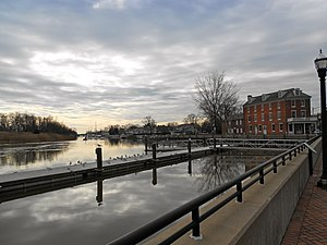Delaware City, Delaware - Entrance to Chesapeake and Delaware Canal
