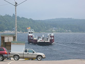 Grand Bay–Westfield - Cable ferry at Westfield, Brundage Point