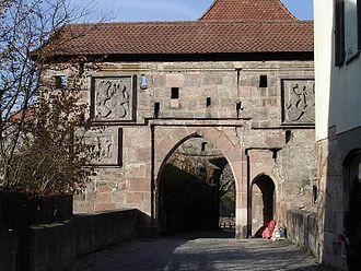 Cadolzburg - castle gate with bridge