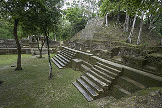 Cahal Pech Maya archaeological site in western Belize