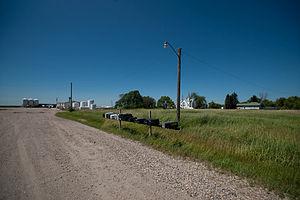 Calvin, North Dakota - Street in Calvin