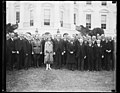 Calvin Coolidge and Grace Coolidge and group outside White House, Washington, D.C. LCCN2016888519.jpg