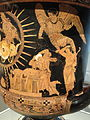 Calyx-Krater, about 400 BC, South Italian, Lucania, attributed to Near the Policoro Painter, ceramic - Cleveland Museum of Art - DSC08254.JPG