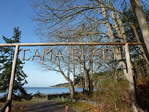National Register of Historic Places listings in Island County, Washington - Image: Cama Beach Resort Sign