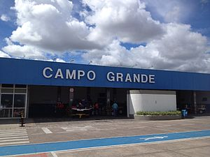 Campo Grande Airport from the boarding lanes