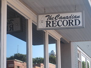 Hemphill County, Texas - Canadian Record newspaper office serves Hemphill County.