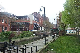 Canal Street (Manchester) - Gay Village and the canal locks