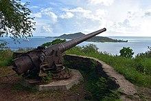 Canon américain à Bora Bora
