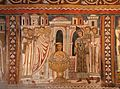 Cappella di san silvestro, affreschi del 1246, storie di costantino 05 battesimo di costantino 1.jpg