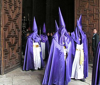 Holy Week in Spain - The distinctive cloaks and hoods (capirotes) of Spanish Holy Week processions.