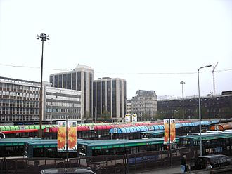 Cardiff Central bus station - Cardiff Central bus station in April 2009