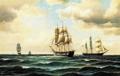 Carl Bille - To danske fregatter på havet.png