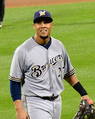 Carlos Gómez - Gómez with the Milwaukee Brewers in 2013